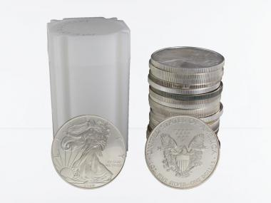 USA 1 Dollar Silver Eagle, Tube 20x 1 oz ver. Jahrgänge