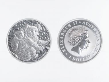 Australien 1$ Koala 2008, 1 Unze  Silber