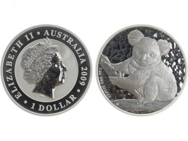 Australien 1$ Koala 2009, 1 Unze  Silber