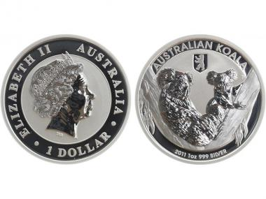 Australien 1$ Koala 2011, Privy Mark Berlin