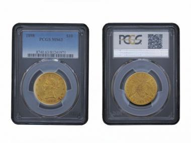 USA 10 Dollars Gold Eagle/Kopf 1898