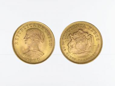 Chile 50 Pesos Freiheitskopf 1970