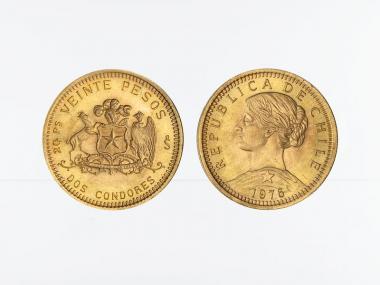 Chile 20 Pesos Freiheitskopf 1976