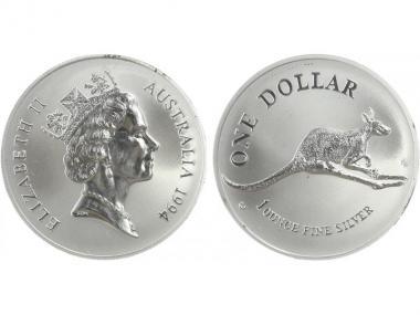 Australien 1$ Känguru 1994, 1 oz  Silber