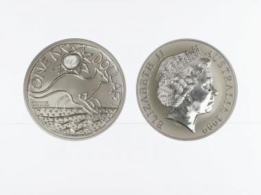Australien 1$ Känguru 2009, 1 oz  Silber
