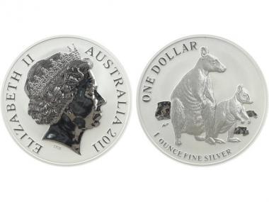 Australien 1$ Känguru 2011, 1 oz  Silber