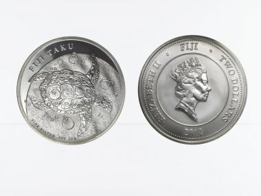 Fiji Taku 2 $  Schilkröte  2011, 1 Unze