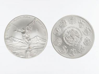 Mexiko Libertad 2 onzas, Silber