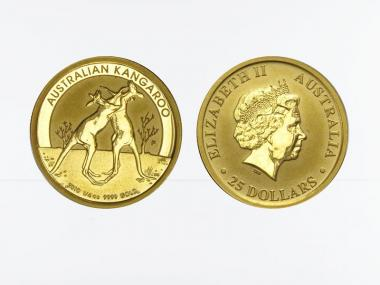 Australien 25 $ Nugget Känguru, 1/4 Unze  2010