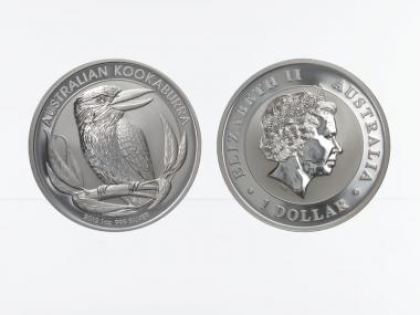 Australien 1$ Kookaburra 2012, 1 oz  Silber