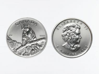 Kanada 5$  Wildlife Puma ,  1 oz  2012