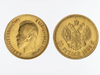 Russland 10 Rubel Nikolaus II,  1901