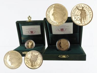 Vatikan 20 €+50 € Gold, 2010, Bildhauerkunst original