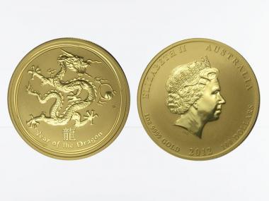 Australien 100 $ Lunar II  Drache, 1 Unze  2012