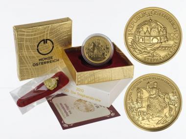 Österreich 100 Euro Gold, 2010, Stephanskrone,