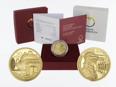 Österreich 50 Euro Gold, 2011, 200 Jahre Joanneum