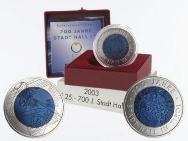 Österreich 25 Euro Niob, Stadt Hall 2003