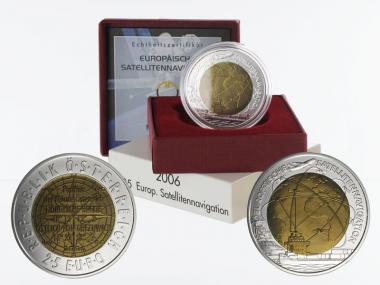 Österreich 25 Euro Niob, Satelitennavigation 2006