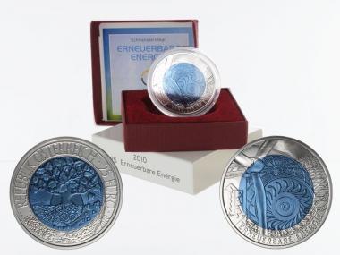 Österreich 25 Euro Niob, Erneuerbare Energie 2010