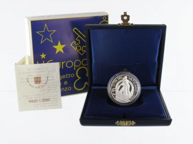 Vatikan 5 € Europa  2002 PP, Silber