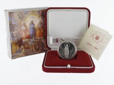 Vatikan 5 € 150 Jahre Dogma  2004 PP, Silber