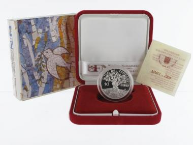 Vatikan 10 € Weltfriedenstag 2004 PP, Silber