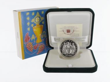 Vatikan 10 € Eucharistiejahr 2005 PP, Silber