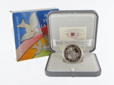 Vatikan 5 € Weltfriedenstag 2006 PP, Silber