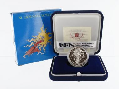 Vatikan 5 € Weltfriedenstag 2007 PP, Silber