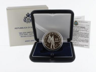 San Marino 10 € Militär 2005 PP, Silber