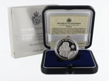 San Marino 5 € Johannes Kepler 2009 PP, Silber