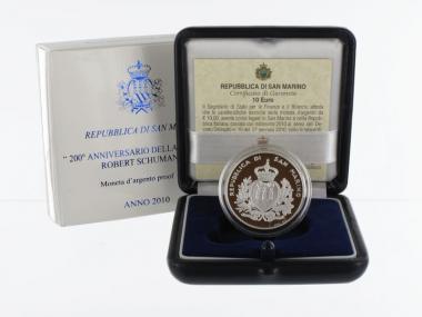 San Marino 10 € Robert Schumann 2010 PP, Silber