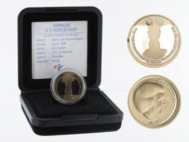 Niederlande 10 Euro Gold, 2002, Hochzeit,