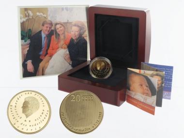 Niederlande 20 Euro Gold, 2004, Geburt von Amalia,