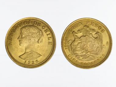 Chile 100 Pesos Freiheitskopf 1926