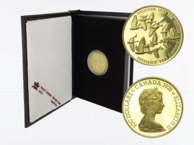 Kanada Wildgänse 100 Dollars 1978,1/2 oz proof