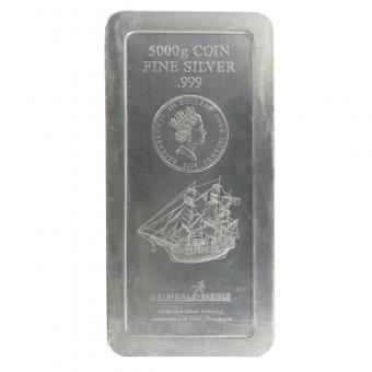 Cook Islands 150 $. Bounty, 5000 Gr.. Silber,