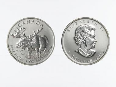 Kanada 5$  Wildlife Elch ,  1 oz  2012