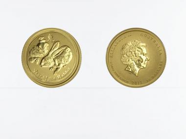 Australien 15$ Lunar II  Hase, 1/10 Unze  2011