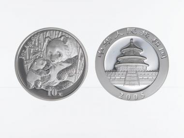 China 10 Yu Panda  2005, 1 oz  Silber