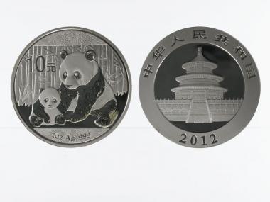 China 10 Yu Panda  2012, 1 oz  Silber