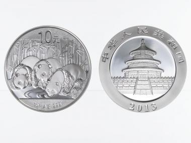 China 10 Yu Panda  2013, 1 oz  Silber
