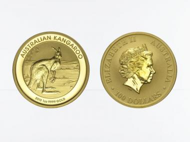 Australien 100 $ Nugget Känguru, 1 Unze  2013