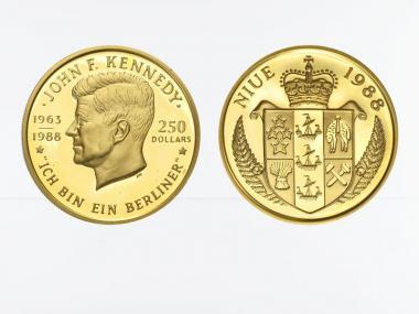 Niue 250 Dollars Kennedy 1988, proof