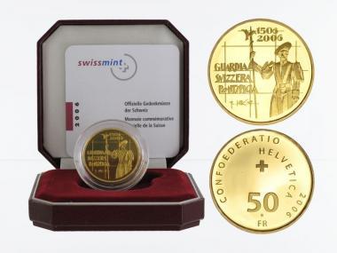 Schweiz 50 Franken Schweizergarde 2006, proof