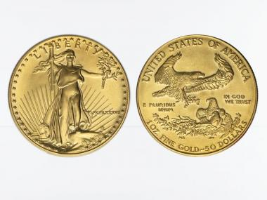 USA 50 Dollar 1 oz Gold Eagle 1986-91