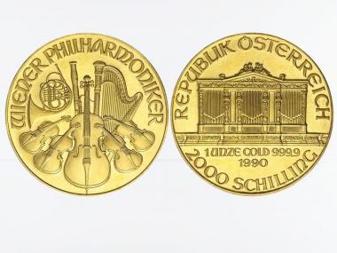 Österreich 2000 Schilling 1 oz Wiener Philharmoniker