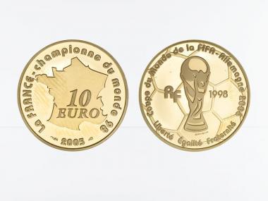 Frankreich 10 Euro Gold, 2005,  Fußball WM 2006