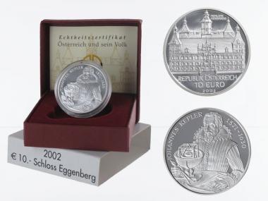 Österreich 10 Euro Silber, 2002, Schloss Eggenberg PP