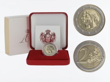 Monaco original 2 € Hochzeit, 2011 in Originalbox